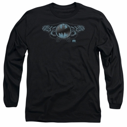 Batman adult long-sleeved shirt Two Gargoyles Logo black