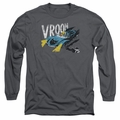 Batman adult long-sleeved shirt Vroom charcoal