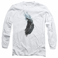 Batman adult long-sleeved shirt Wash white
