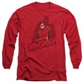 Batman adult long-sleeved shirt Wingman red
