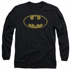 Batman adult long-sleeved shirt Word Logo black