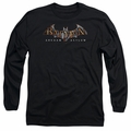 Batman Arkham Asylum adult long-sleeved shirt Arkham Asylum Logo black