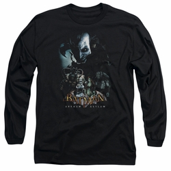 Batman Arkham Asylum adult long-sleeved shirt Five Against One black