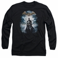 Batman Arkham Asylum adult long-sleeved shirt Game Cover black