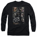Batman Arkham Asylum adult long-sleeved shirt Running The Asylum black