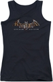 Batman Arkham Asylum juniors tank top Arkham Asylum Logo black