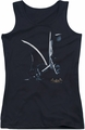 Batman Arkham Asylum juniors tank top Arkham Batman black