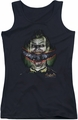 Batman Arkham Asylum juniors tank top Crazy Lips black