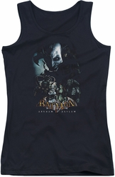 Batman Arkham Asylum juniors tank top Five Against One black