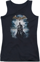 Batman Arkham Asylum juniors tank top Game Cover black