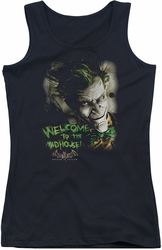 Batman Arkham Asylum juniors tank top Welcome To The Madhouse black