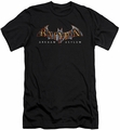 Batman Arkham Asylum  slim-fit t-shirt Arkham Asylum Logo mens black