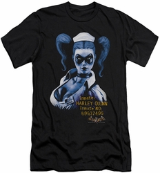 Batman Arkham Asylum  slim-fit t-shirt Arkham Harley Quinn mens black