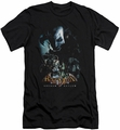 Batman Arkham Asylum  slim-fit t-shirt Five Against One mens black