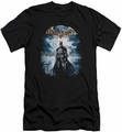 Batman Arkham Asylum  slim-fit t-shirt Game Cover mens black