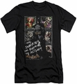 Batman Arkham Asylum  slim-fit t-shirt Running The Asylum mens black