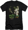 Batman Arkham Asylum  slim-fit t-shirt Welcome To The Madhouse mens black