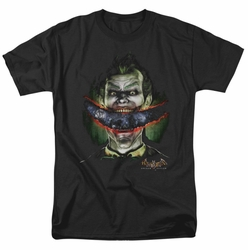Batman Arkham Asylum t-shirt Crazy Lips mens black