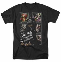 Batman Arkham Asylum t-shirt Running The Asylum mens black