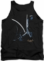 Batman Arkham Asylum  tank top Arkham Batman adult black