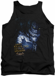Batman Arkham Asylum  tank top Arkham Killer Croc adult black