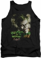 Batman Arkham Asylum  tank top Welcome To The Madhouse adult black