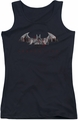 Batman Arkham City juniors tank top Bat Fill black