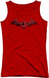 Batman Arkham City juniors tank top In The City red