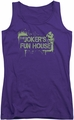 Batman Arkham City juniors tank top Joker's Fun House purple