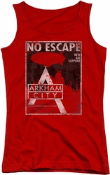 Batman Arkham City juniors tank top No Escape red