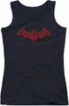 Batman Arkham City juniors tank top Red Bat black