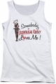 Batman Arkham City juniors tank top Somebody Loves Me white
