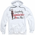 Batman Arkham City pull-over hoodie Somebody Loves Me adult white