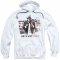 Batman Arkham City pull-over hoodie We Want You adult white