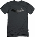 Batman Arkham City slim-fit t-shirt Bat Logo mens charcoal