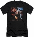 Batman Arkham City slim-fit t-shirt Escape Is Impossible mens black