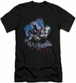 Batman Arkham City slim-fit t-shirt Joke's On You! mens black