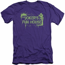 Batman Arkham City slim-fit t-shirt Joker's Fun House mens purple