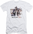Batman Arkham City slim-fit t-shirt We Want You mens white