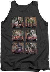 Batman Arkham City tank top Arkham Lineup adult charcoal