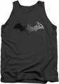 Batman Arkham City tank top Bat Logo adult charcoal