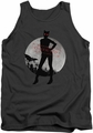 Batman Arkham City tank top Catwoman Convicted adult charcoal