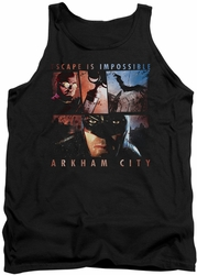 Batman Arkham City tank top Escape Is Impossible adult black