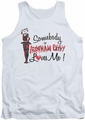 Batman Arkham City tank top Somebody Loves Me adult white