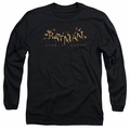 Batman Arkham Knight adult long-sleeved shirt Ak Flame Logo black