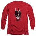 Batman Arkham Knight adult long-sleeved shirt Ak Head red