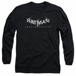 Batman Arkham Knight adult long-sleeved shirt Ak Splinter Logo black