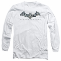 Batman Arkham Knight adult long-sleeved shirt Descending Logo white