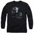 Batman Arkham Knight adult long-sleeved shirt Face Off black
