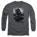 Batman Arkham Knight adult long-sleeved shirt Perched charcoal